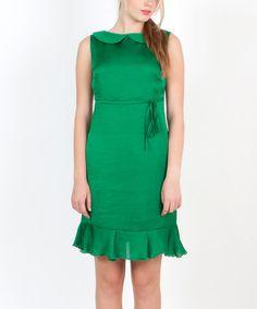 Loving this Green Volante Verde Dress on #zulily! #zulilyfinds