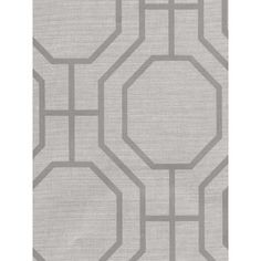 Wallpaper - Discount Decorating | Wallpaper Border Sale | Wholesale Discontinued Wall Coverings - Geometric-283-46932-Brewster-Ink-Silver, White-Ink Black White Neutral, Paperpro, Geometric, Octogon-28.39 - wallpaper, brewster, silver, white