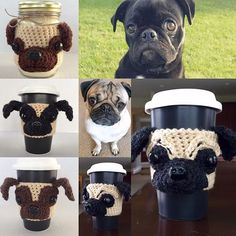 Who wants to see a black Pug cozy? #hookedbyangel hookedbyangel.etsy.com
