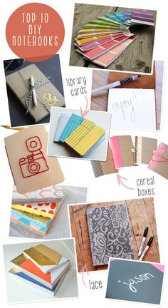 do it your self, inspiration board top 10 diy notebooks