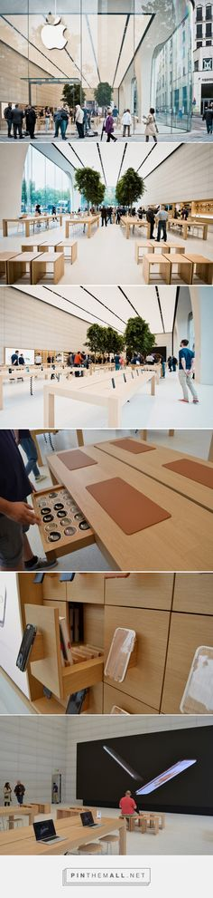 jony ive unveils his first apple store interiors in brussels - created via http://pinthemall.net
