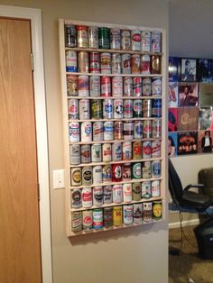 Recycle Pallet-beer can display