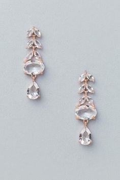 Evalee Glass Chandelier Earrings