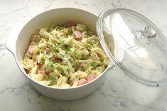 Frankfurti saláta másképp Recept képpel - Mindmegette.hu - Receptek Frankfurt, Mozzarella, Guacamole, Potato Salad, Side Dishes, Potatoes, Mexican, Lunch, Ethnic Recipes