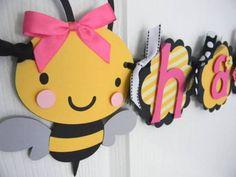 Cute bee garland