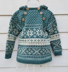 Snøhetta anorak and sweater von SiSiVeAS auf Etsy Knitting For Kids, Knitting Projects, Baby Knitting, Fair Isle Pullover, Baby Fair, Norwegian Knitting, Knit Crochet, Crochet Baby, Fair Isle Pattern