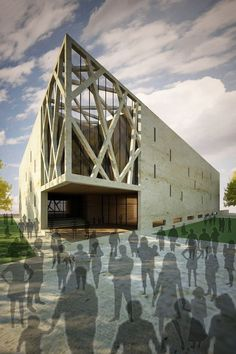 Amazing Architecture, Opera House, Louvre, Restaurant, Building, Mall, Modern, Projects, Facades