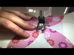 How to Machine Stitch Applique by Jill Finley of Jillily Studio - Fat Quarter Shop - YouTube