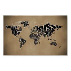 Typografisk världskarta