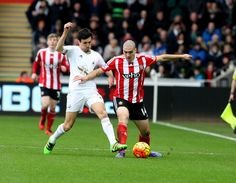 Jack Cork battling in the 1-0 loss to Southampton