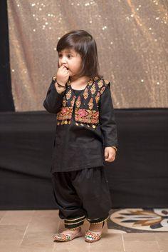 Items similar to Baby girl/toddler/shalwar kameez on Etsy - Kids designer dresses - Kids Summer Dresses, Stylish Dresses For Girls, Dresses Kids Girl, Kids Outfits Girls, Girl Outfits, Stylish Dress Book, Girls Dresses Sewing, Baby Dresses, Emo Outfits