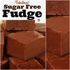 Enjoy this Fabulous Sugar Free Fudge recipe that is simple to make as well. This fudge is delicious and it has not added sugar to the recipe. Sugar Free Fudge, Sugar Free Deserts, Sugar Free Peanut Butter, Sugar Free Baking, Sugar Free Sweets, Sugar Free Candy, Sugar Free Chocolate Chips, Sugar Free Recipes, Chocolate Syrup