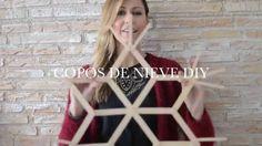 video de como se hace copos de nieve con palitos de madera