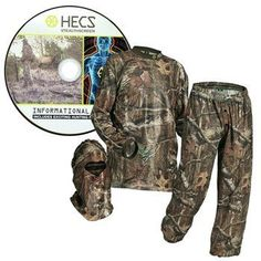 Discounted HECS Suit Deer Hunting Clothing with Human Energy Concealment Technology - Camo 3 Piece Shirt, Pants, Headcover - Lightweight Breathable in Mossy Oak Country & Realtree Xtra Hunting Suit, Hunting Camo, Hunting Clothes, Hunting Boots, Outdoor Apparel, Outdoor Gear, Outdoor Clothing, Camo Suit, Hunting Supplies
