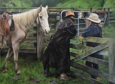 A Country Romance by Julie Greig - notecards New Zealand Landscape, Country Life, Country Living, Principles Of Art, Down On The Farm, Baby Grows, Western Art, Clothes Horse, Cowboys