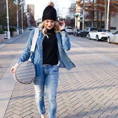 This look  : @audreymadstowe . . . . #sloaneranger #sloanestyle #fashion #instaprep #preppy #preppystyle #instastyle #modernprepgazette #preppythings #modernprep #instablogger #instafashion #fashionblogger #fblogger #nautical #aotd #ootd  #travel #travelblogger #january #winter #friday #friyay #weekend #weekender #stripes #pompoms                                                                                                                                                                                                                                                                                                                                                                                                                                                                                                                                                             All For Color