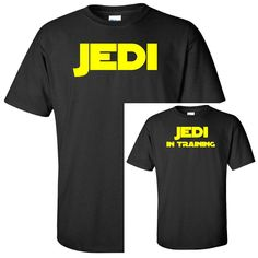 Jedi - Jedi In Training - Funny Father Mother Son Daughter Star Wars T Shirt Combo - Adult & Youth Unisex Sizes - Gildan Disney Episode 9 Christmas Gifts For Girls, Christmas Gifts For Men, Gifts For Teens, Christmas Humor, Gifts For Dad, Funny Disney Shirts, Funny Kids Shirts, Star Wars Humor, Disney Star Wars