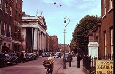 Marlborough Street, Dublin 1958. Dublin Street, Dublin City, Love Ireland, Dublin Ireland, Old Pictures, Old Photos, Photo Engraving, Ireland Homes, Emerald Isle