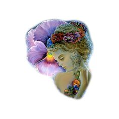 Josephine Wall pansy4 - CSI for Poly ❤ liked on Polyvore