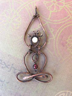 Little Yogi Antiqued Truth Yoga necklace by lemuriandiamond