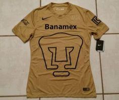 d01a69ff Men's Nike Dri-fit Authentic 2014 Pumas UNAM Soccer Jersey Size Medium  683987 for sale online