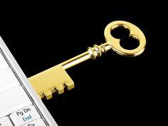 USB Key Flash Drive in Gold (2)