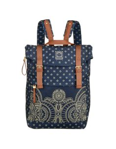 The Oilily ´Bandana´ line of bags combines print and delicate embroidery. Completed with elegant details in matching colors.<ul><li>Adjustable padded shoulder straps</li><li>Handle on top for easy carrying</li><li>Inside zipper closed main compartment 2 open pockets and 1 zipper pocket</li><li>Magnetic closure under flaps.<br></li><li>Zipper closed pocket at side for easy acces to main compartment. </li><li>Handle drop 5.5 cm</li><li>11.1 liter</li></ul>