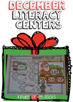 December Literacy Centers for Kindergarten!