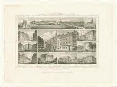 Basel 1850 , Stahlstich, 22 x 13 cm .
