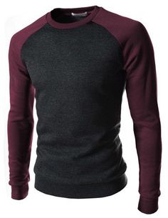 Liked on Pinterest: A more interesting way to wear a black crew neck top keeping to dark strong colours