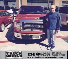 Congratulations to Gilbert Escilla on your #Ford F-150 purchase from Harold Bennett at Dallas Truck World! #NewCar