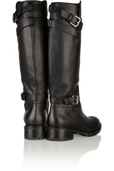 FENDI Leather knee biker boots $1,495