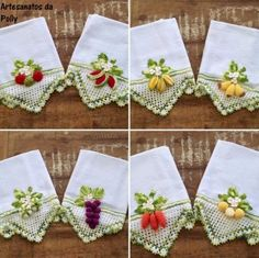 Crochet Square Patterns, Crochet Borders, Crochet Edgings, Crochet Fruit, Crochet Ornaments, Quilling, Decoration, How To Make, Decor Room