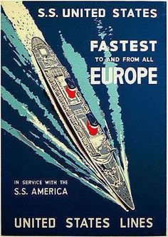 S.S. United States and S.S. America were once the fastest and finest way to cruise between North America and Europe.