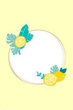 Lemon Background, Cake Logo Design, Photo Frame Design, Framed Wallpaper, Free Illustrations, Background Patterns, Pattern Design, Vector Free, Shops