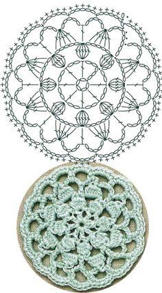 No 33 chrysanthemum medallion lace crochet motifs 국화꽃 모티브도안 Crochet Diagram, Crochet Chart, Crochet Round, Crochet Squares, Crochet Flowers, Crochet Lace, Crochet Thread Patterns, Sous Bock, Crochet Accessories