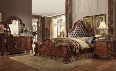 Upholstered Bedroom Set, Oak Bedroom, King Bedroom Sets, Queen Bedroom, Master Bedroom, Mirrored Bedroom, Tufted Headboards, Tufted Bed, Bedroom Sofa