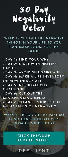 Spend the next 30 day detoxing and decluttering your emotional life of negativity with our 30 Day Negativity Detox. #negativitydetox #depression #depressed