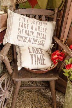 Flour Sack Pillows for your Lake House
