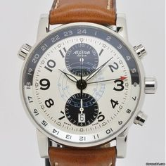 Alpina Startimer GMT Chronograph - I owned a watch like this designed by Timex before and loved it! Timex Watches, Men's Watches, Cool Watches, Fashion Watches, Watches For Men, Men's Fashion, Dream Watches, Luxury Watches, Alpina Watches