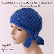 Flapper Style Cloche with Side Tie - via @Craftsy