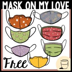 Mask on My Love FreebieThis set of Mask on My Love clipart is ready for you to put into your clipart collection! All images are 300dpi which give better qualities when it comes to scaling and printing. You will receive 14 color images and 4 black-and-white images.Cheers to all the hard work we have ...