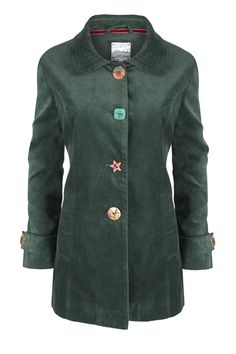 All's Fair In Love And Buttons Coat  http://www.mistral-online.com/clothing-c50/coats-jackets-wraps-c9/alls-fair-in-love-and-buttons-short-length-coat-mallard-green-p23317