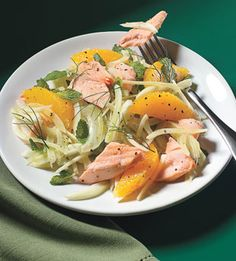 Salmon Salad with Fennel, Orange, and Mint...love fennel!