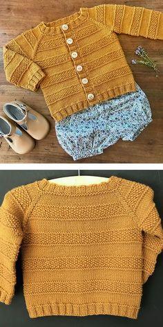 Free Baby Sweater Knitting Patterns, Creative Knitting, Knitting For Kids, Knitting Ideas, Baby Patterns, Baby Knitting, Knit Sweaters, Warm Sweaters, Casual Sweaters