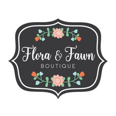 Premade Logo - Floral Logo Design - Customized with Your Business Name!
