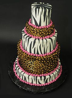 leopard zebra pink cake from yum bunnies fakery