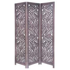 KUTTE wooden fretwork folding screen W 170cm