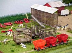 1/64 Model Farm Display