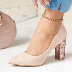 Pantofi Dama cu Toc Katherine Pumps, Heels, Fashion, Heel, Moda, Fashion Styles, Pumps Heels, Pump Shoes, High Heel